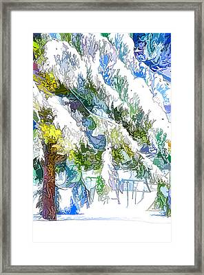 Snow-covered Tree Branch  3 Framed Print
