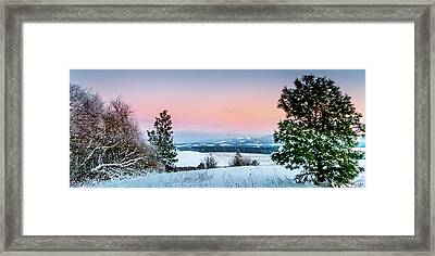 Snow Covered Valley Framed Print