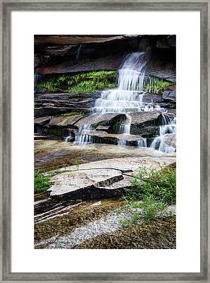 Snow Creek Cascade Framed Print
