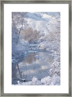 Snow Creek Framed Print by Darren White
