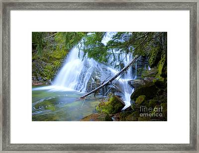 Snow Creek Falls Framed Print