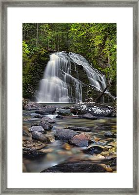 Snow Creek Falls Framed Print