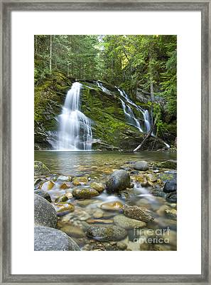 Snow Creek Falls Framed Print by Idaho Scenic Images Linda Lantzy