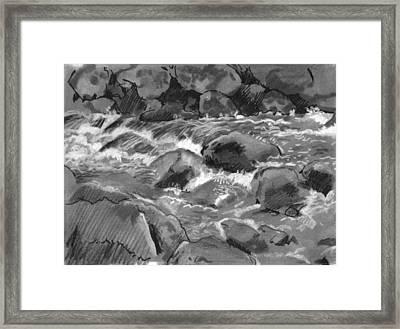 Snow Creek In Spring Framed Print by Robert Bissett