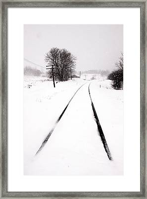 Snow Crossing Framed Print by Russell Styles
