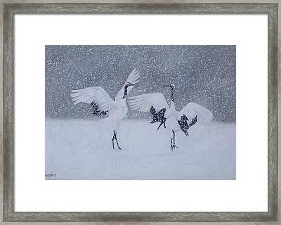 Snow Dancers Framed Print