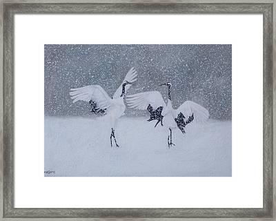 Snow Dancers Framed Print