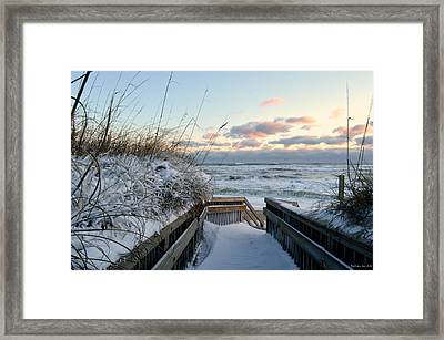 Snow Day At The Beach Framed Print