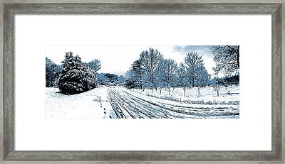 Snow Day Framed Print