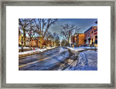 Snow Day In Madison Wisconsin Framed Print by Yinan Chen