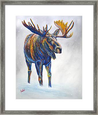 Snow Day Framed Print by Teshia Art