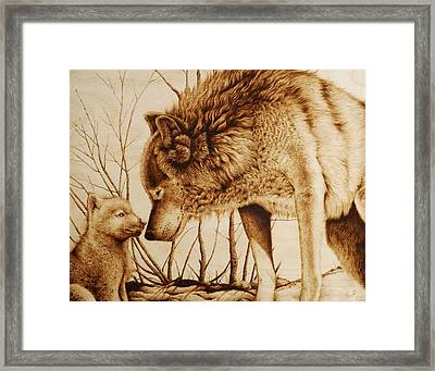 Snow Day With Mom Framed Print