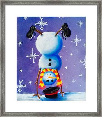 Snow Dayz Framed Print