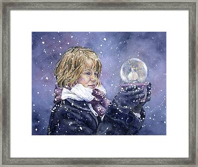 Snow Dreaming Framed Print by Leslie Redhead