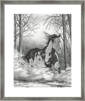 Snow Driftin' Framed Print