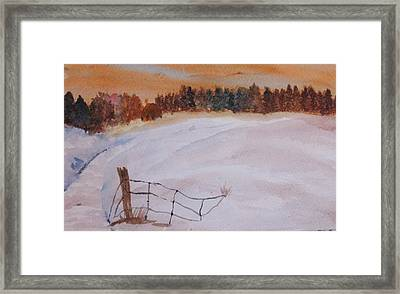 Framed Print featuring the painting Snow Drifts by Trilby Cole
