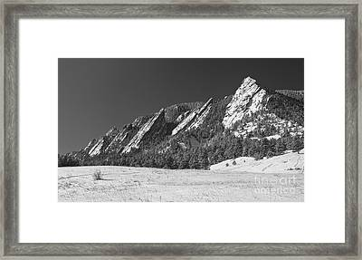 Snow Dusted Flatirons Boulder Co Panorama Bw Framed Print by James BO  Insogna