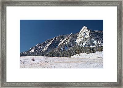 Snow Dusted Flatirons Boulder Colorado Panorama Framed Print by James BO  Insogna