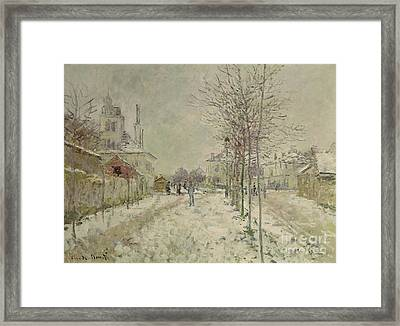 Snow Effect Framed Print by Claude Monet