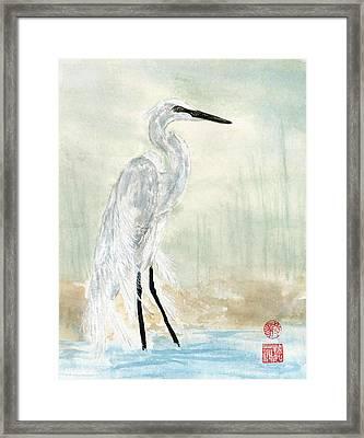 Snow Egret Framed Print