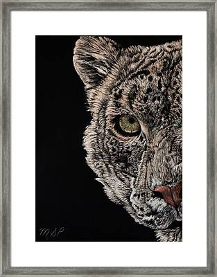 Snow Eye Framed Print