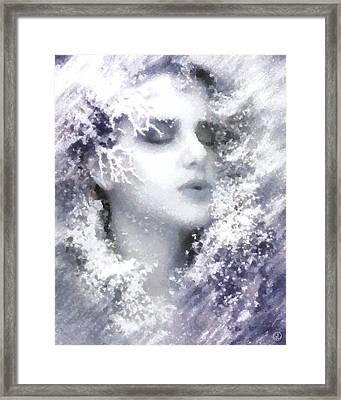Framed Print featuring the digital art Snow Fairy  by Gun Legler