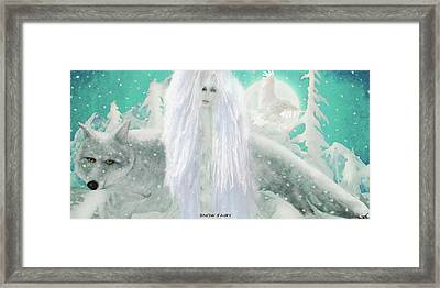 Snow Fairy Framed Print