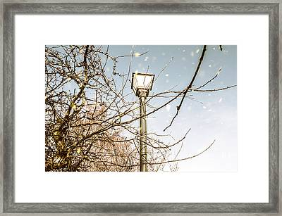 Snow Fall And Old Lights Framed Print by Jorgo Photography - Wall Art Gallery