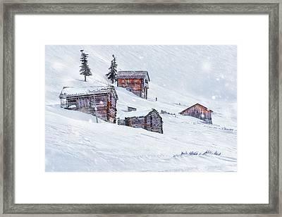 Snow Fall Framed Print by Svetlana Sewell