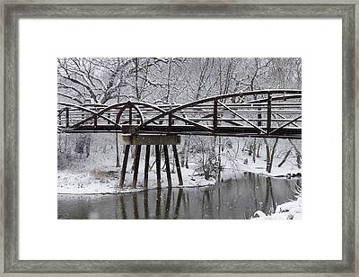 Snow Falling Framed Print by Elvira Butler