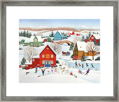 Snow Family  Framed Print