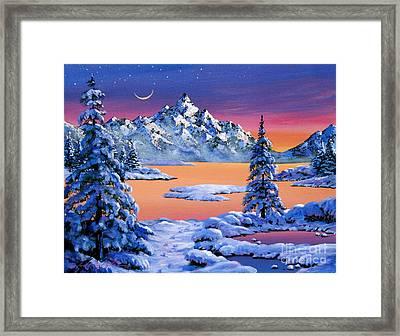 Snow Fantasy Framed Print