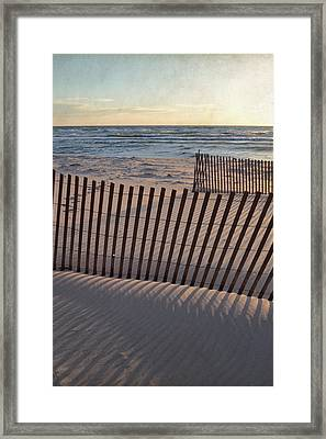 Framed Print featuring the photograph Snow Fences 2.0 by Michelle Calkins