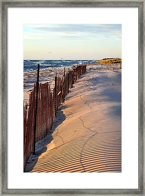 Framed Print featuring the photograph Snow Fences 4.0 by Michelle Calkins