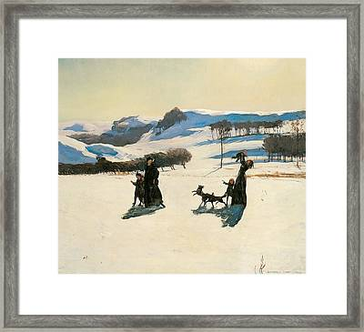Snow Fields Framed Print by Rockwell Kent