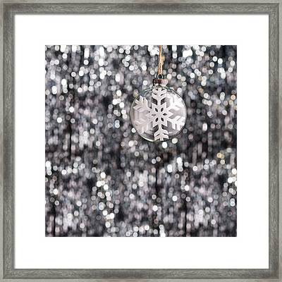 Framed Print featuring the photograph Snow Flake by Ulrich Schade