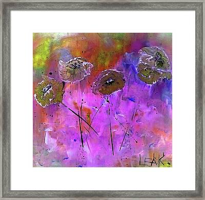 Snow Flowers Framed Print by Lisa Kaiser