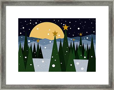 Snow Flurries Framed Print by Val Arie