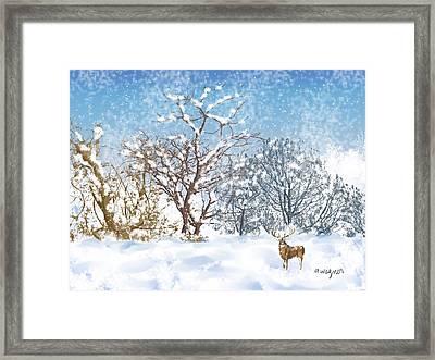 Snow Flurry Framed Print by Arline Wagner