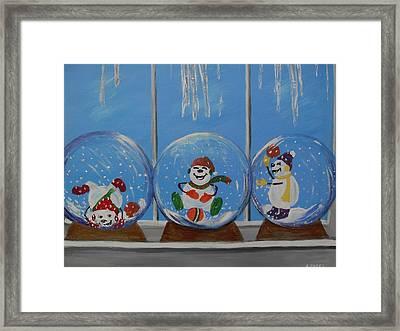 Snow Globes Framed Print by Aleta Parks