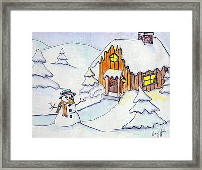 Snow Glow Framed Print