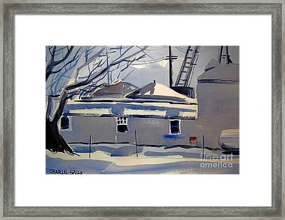 Snow Grain And Sleet Double Matted Framed Print