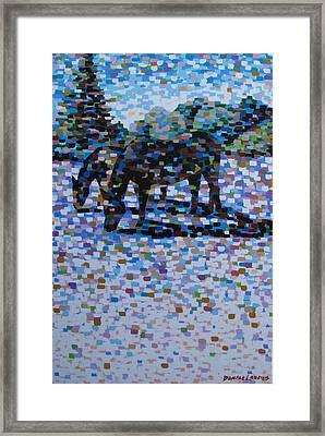 Snow Grazing Framed Print