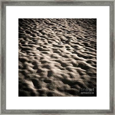 Snow Ground Wave. Framed Print by Bernard Jaubert