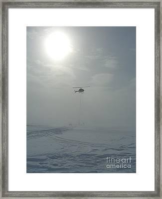 Snow Heli -25deg Framed Print by Jim Thomson