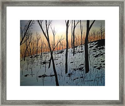 Snow Hill Framed Print