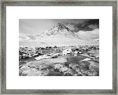 Snow In Glencoe Framed Print