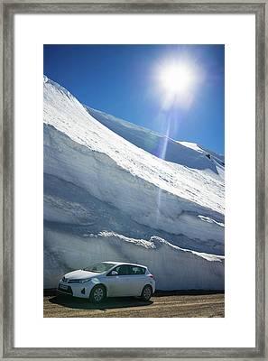Snow In Iceland In June Framed Print