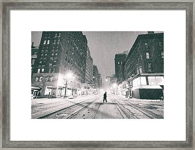 Snow In New York City Framed Print by Vivienne Gucwa