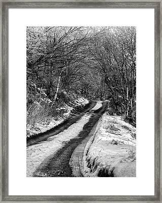 Snow In Rawtenstall Woods Framed Print